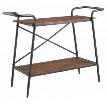 Mesa auxiliar Emcor 2 baldas madera y metal