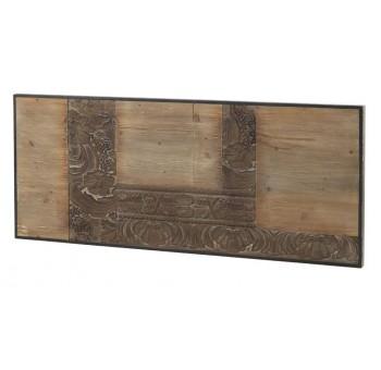 Cabecero Mendix 145 madera tallada marrón y negro
