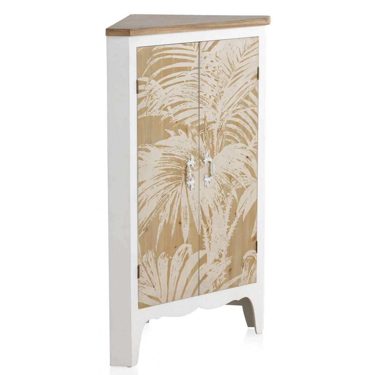 Mueble rinconera trianz madera blanco y natural - Mueble rinconera ...
