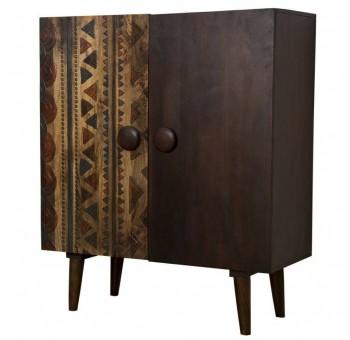Armario Masri 2 puertas madera mango marrón oscuro