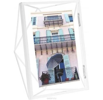 Portafotos sobremesa 13x18 blanco geométrico