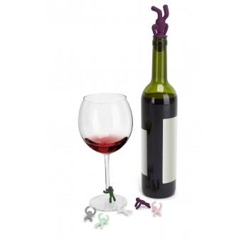 Set de marca copas y tapón de vino Winner