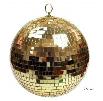 Bola decoración Navidad espejos dorados 25 cm