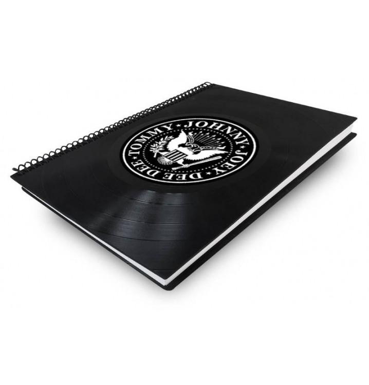 Libreta cuaderno normal Disco vinilo Ramones