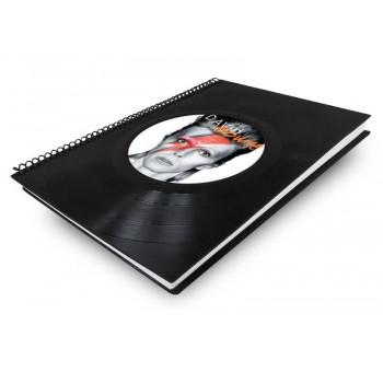 Libreta cuaderno normal Disco vinilo David Bowie