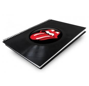 Libreta cuaderno normal Disco vinilo Rolling Stones rojo