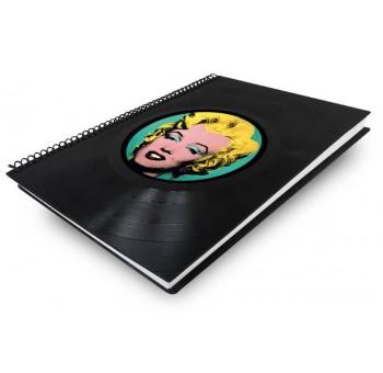 Libreta cuaderno normal Disco vinilo Marylin Warhol