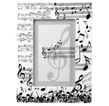 Portafotos sobremesa diseño claves musicales