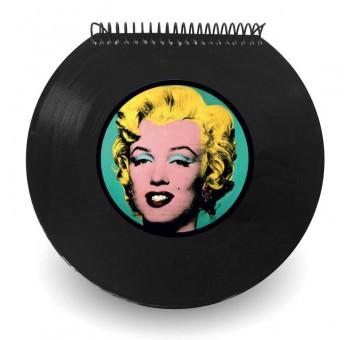 Libreta cuaderno Disco vinilo Single Marilyn Monroe