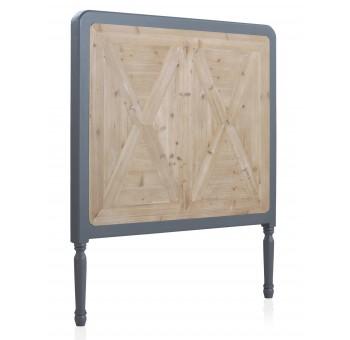Cabecero cama Turio 110x120 madera marrón y gris