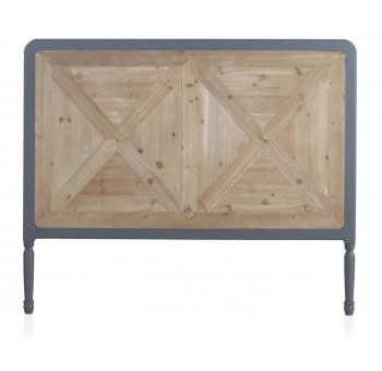 Cabecero cama Turio 145x120 madera marrón y gris