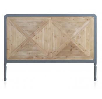 Cabecero cama Turio 165x120 madera marrón y gris