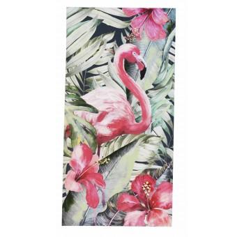 Cuadro lienzo vertical pintado a mano Flamenco Rosa