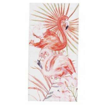 Cuadro lienzo vertical pintado a mano pareja Flamencos