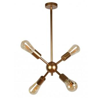 Lámpara techo Galaxy 4 brazos metal oro