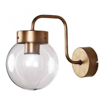 Aplique pared Atomo Art Decó metal oro viejo transparente