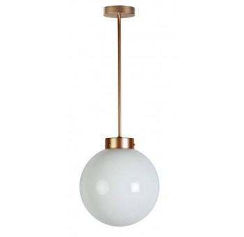 Lámpara de techo Atomo Art Decó dorada globo cristal traslúcido