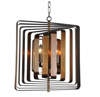 Lámpara techo Art Decó luxury bronce cuadrada