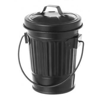 Cenicero diseño cubo basura americano negro
