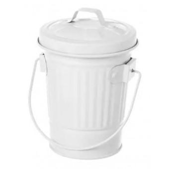 Cenicero diseño cubo basura americano blanco