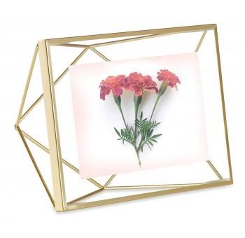 Portafotos sobremesa 10x15 dorado geométrico