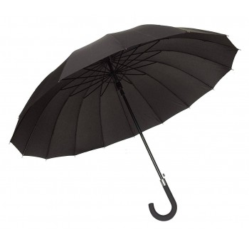 Paraguas negro Caballero 16 varillas anti viento