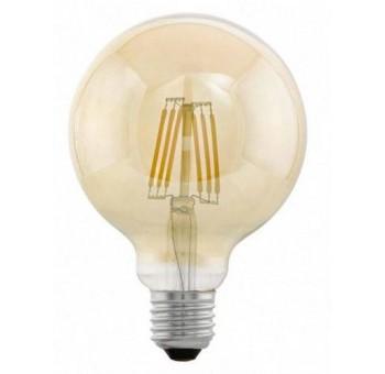 Bombilla grande E27 filamento led cristal ámbar mediana