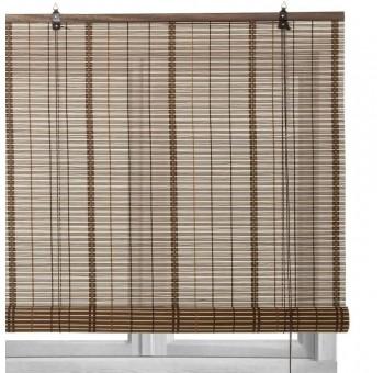 Estor persiana 90x180 enrollable estilo colonial bambú oscuro